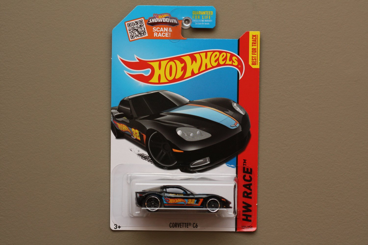 Hot Wheels 2015 HW Race C6 Corvette (black - Toys R Us Excl.)