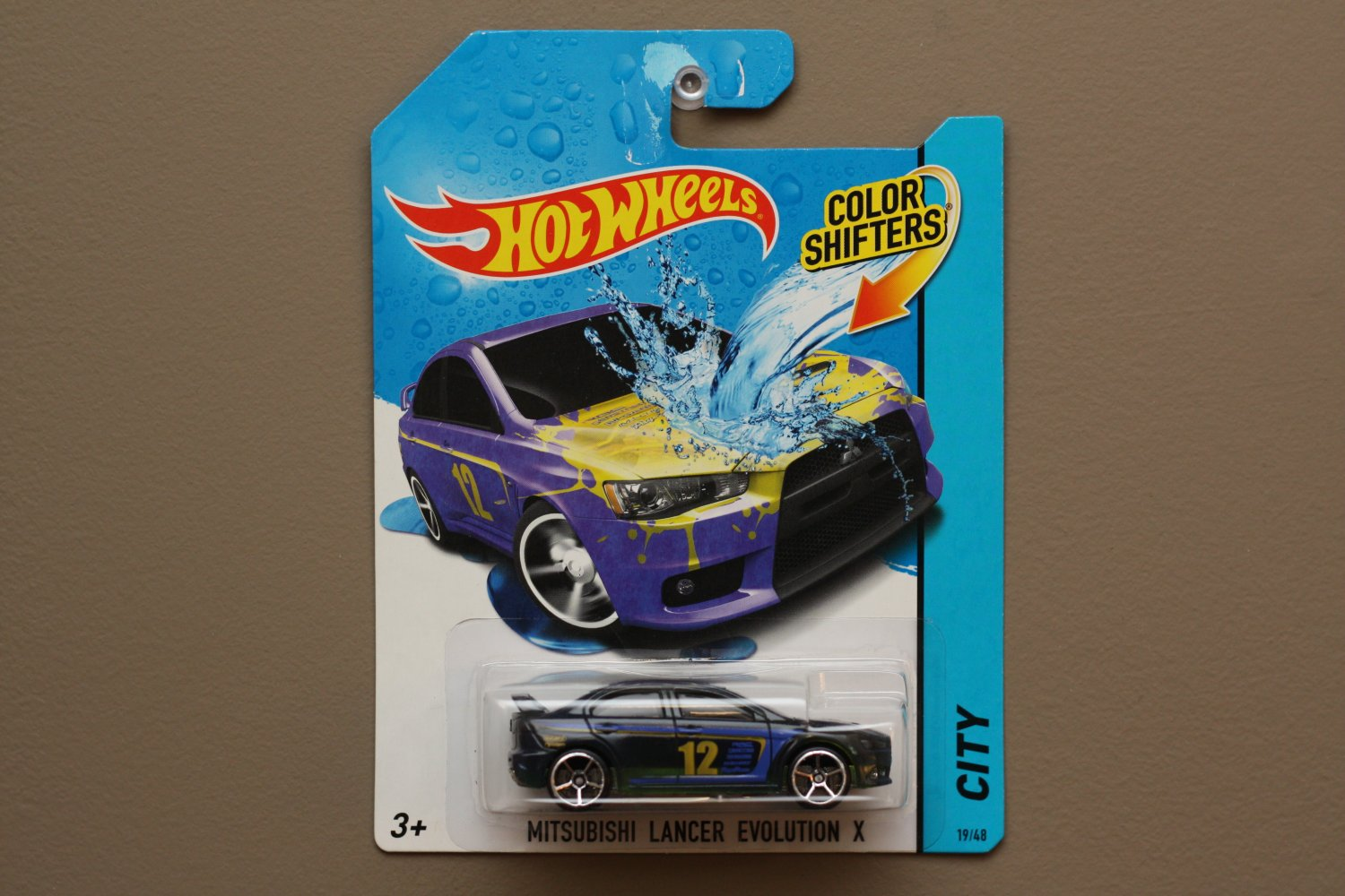 Hot Wheels 2014 Color Shifters Mitsubishi Lancer Evolution X (purple to yellow) (SEE CONDITION)