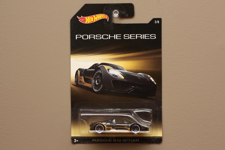 Hot Wheels 2015 Porsche Series Porsche 918 Spyder (black)