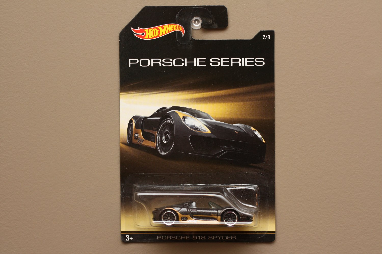 Hot Wheels 2015 Porsche Series Porsche 918 Spyder (black) (SEE CONDITION)