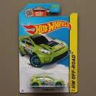 Hot Wheels 2015 HW Off-Road '12 Ford Fiesta (green) (SEE CONDITION)