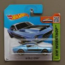 Hot Wheels 2015 HW Workshop '68 Shelby GT-500 (blue) (SEE CONDITION)