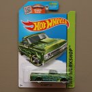Hot Wheels 2015 HW Workshop '67 Chevy C10 (green - Kmart Excl.)