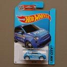 Hot Wheels 2015 HW City Fiat 500 (blue)