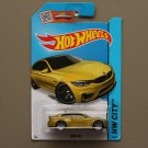 Hot Wheels 2015 HW City BMW M4 (dark yellow) (SEE CONDITION)