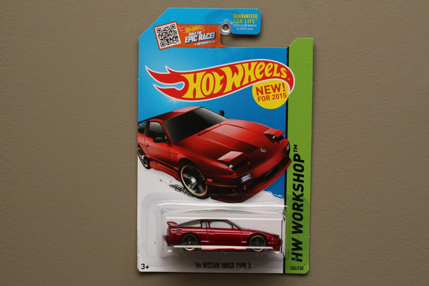 Hot Wheels 2015 HW Workshop '96 Nissan 180SX Type X (red) (SEE CONDITION)