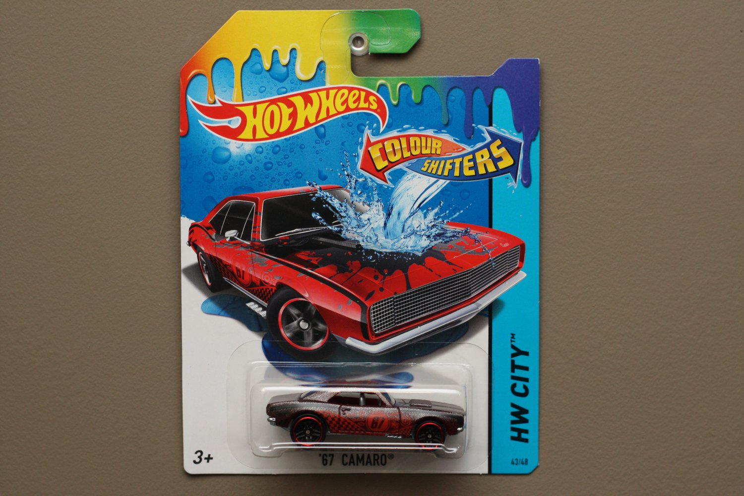 hot wheels 2015 color shifters 39 67 camaro black to red. Black Bedroom Furniture Sets. Home Design Ideas