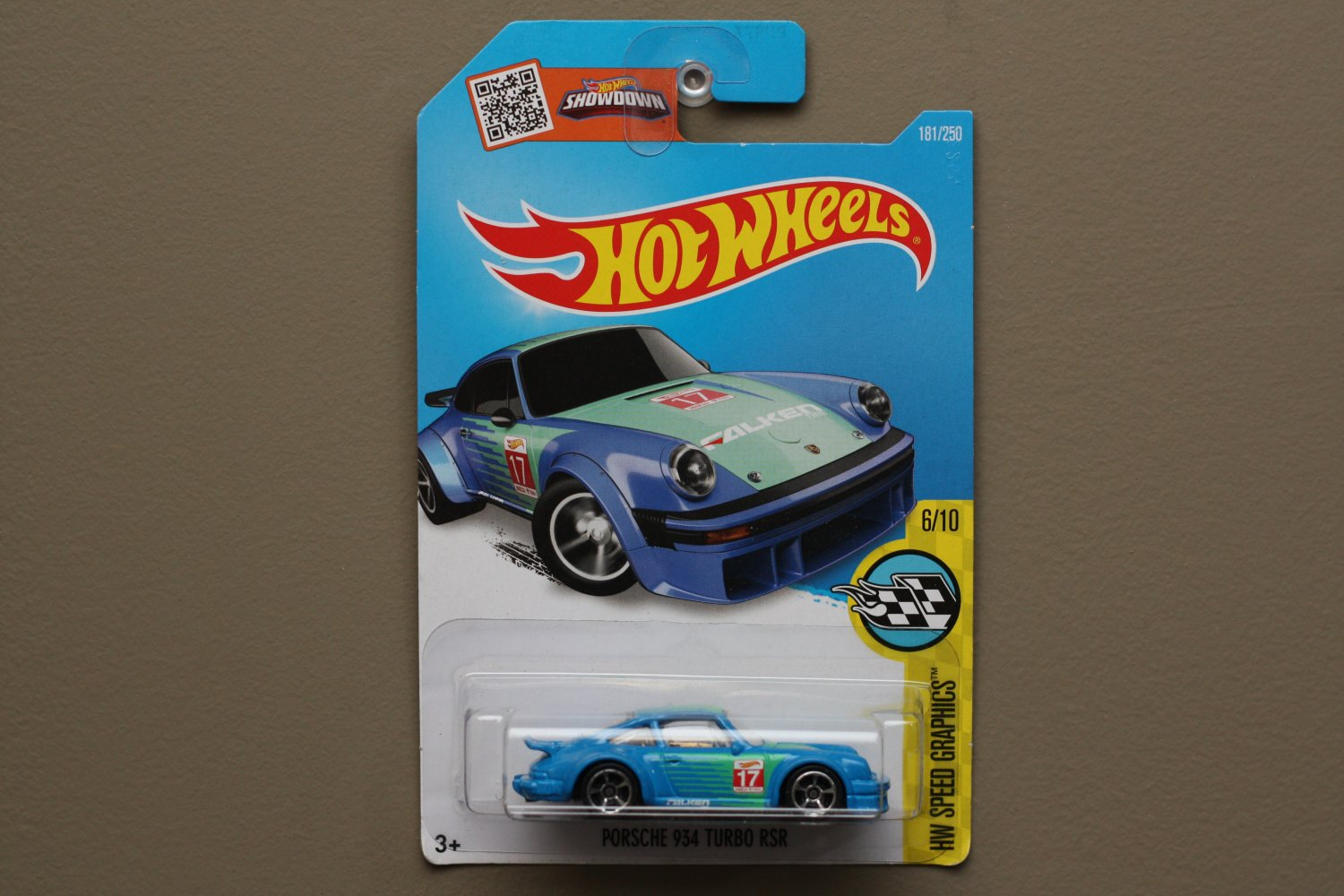 Hot wheels 2016 hw speed graphics porsche 934 turbo rsr blue for 9 salon hot wheels 2016