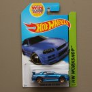 Hot Wheels 2014 HW Workshop Nissan Skyline GT-R (R34) (blue) (SEE CONDITION)