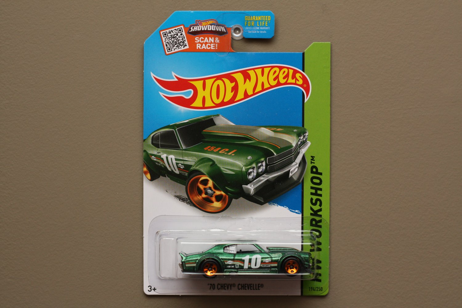 Hot Wheels 2015 HW Workshop '70 Chevy Chevelle (green - Kmart Excl.) (SEE CONDITION)