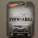 Hot Wheels 2015 Retro Entertainment 80's Corvette (James Bond 007)