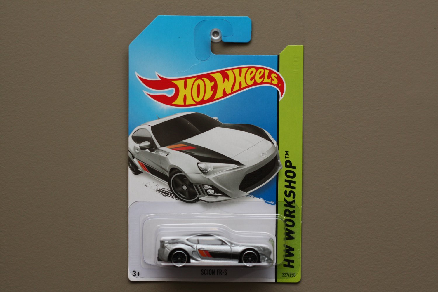 Hot Wheels 2014 HW Workshop Scion FR-S (silver) (SEE CONDITION)