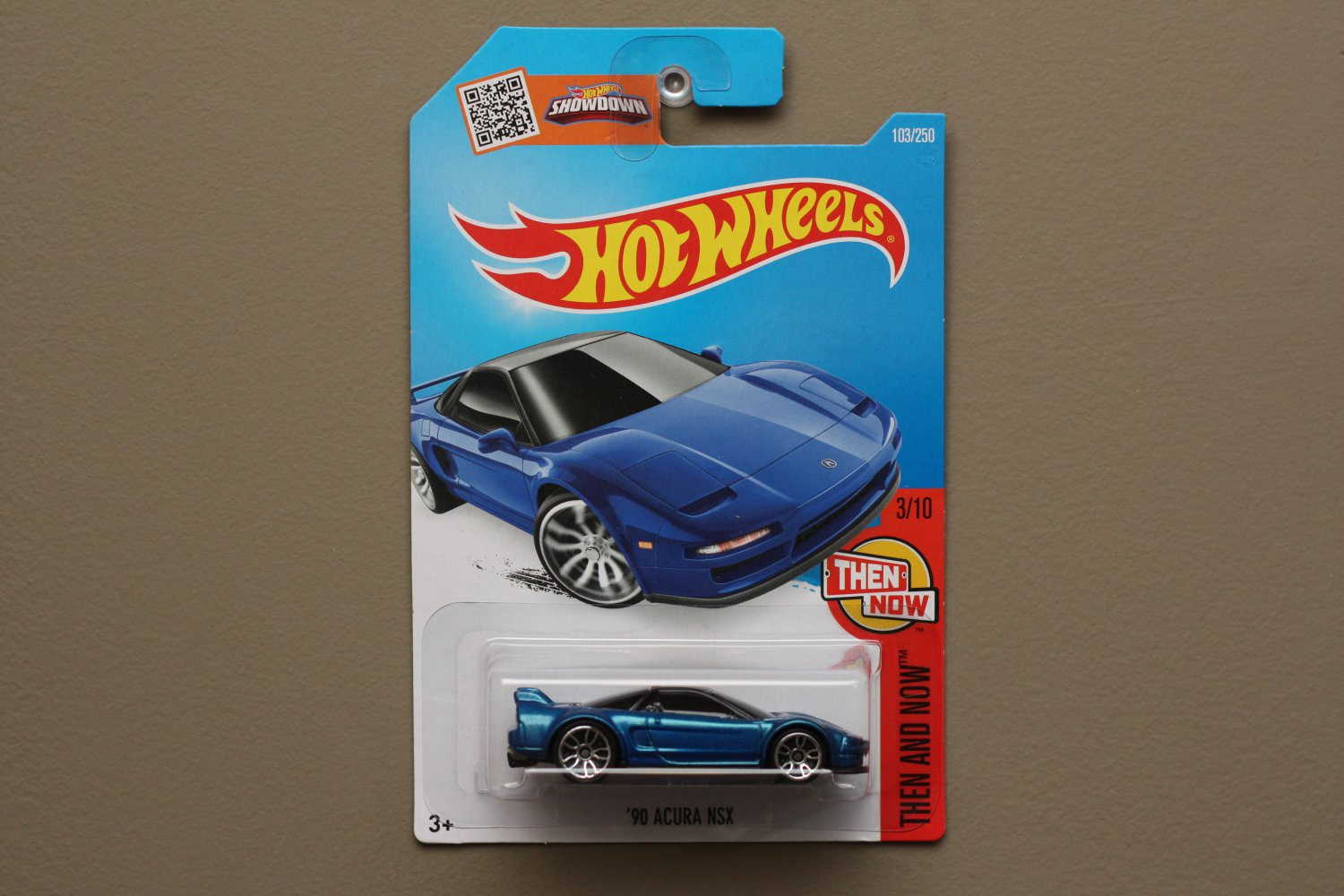 Hot Wheels 2016 Then And Now '90 Acura NSX (blue)