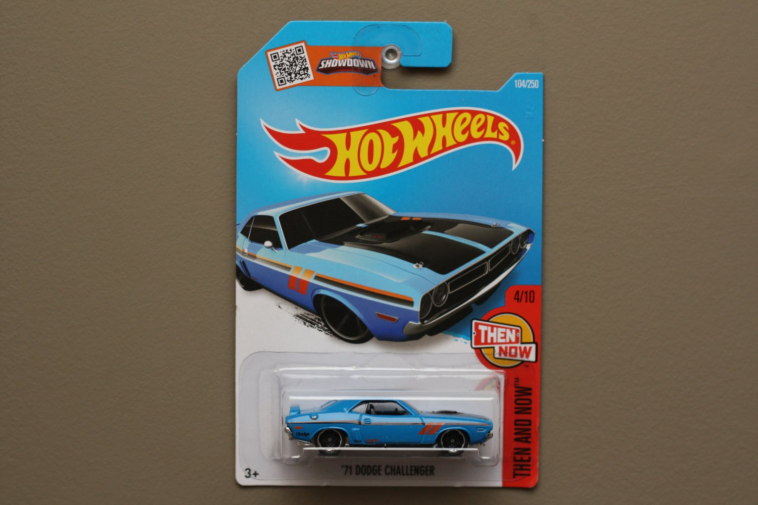 Hot wheels 2016 then and now 39 71 dodge challenger blue for 9 salon hot wheels 2016