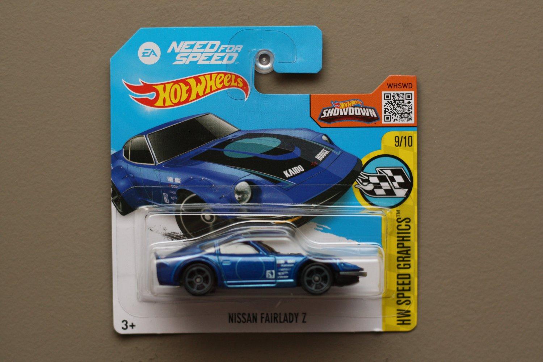 Hot Wheels 2016 Hw Speed Graphics Nissan Fairlady Z Blue