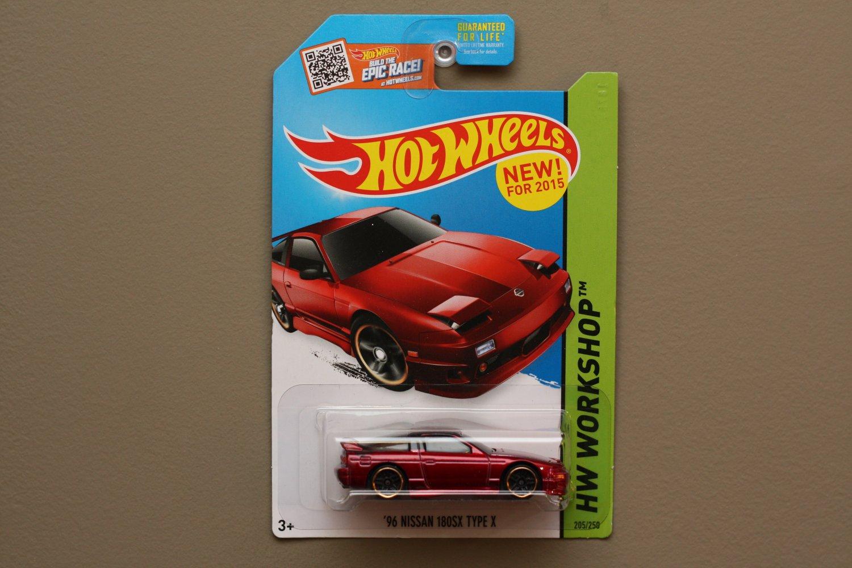 Hot Wheels 2015 HW Workshop '96 Nissan 180SX Type X (red)