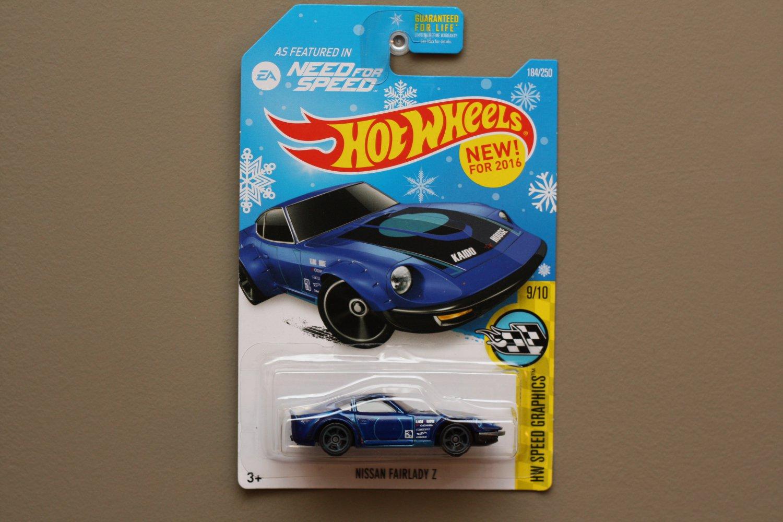 Hot wheels 2016 hw speed graphics nissan fairlady z blue for 9 salon hot wheels mexico