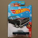 Hot Wheels 2016 HW Flames '66 Ford Fairlane 427 (black) (SEE CONDITION) (Snowflake)