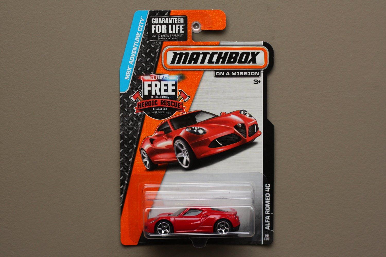 Matchbox 2014 MBX Adventure City Alfa Romeo 4C (red)