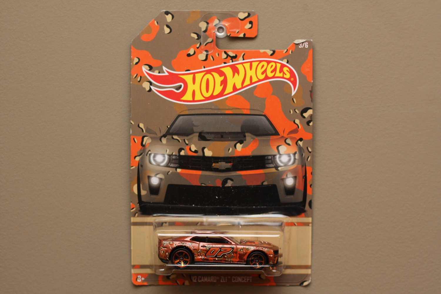 Hot Wheels 2015 Camouflage '12 Camaro ZL1 Concept (SEE CONDITION)