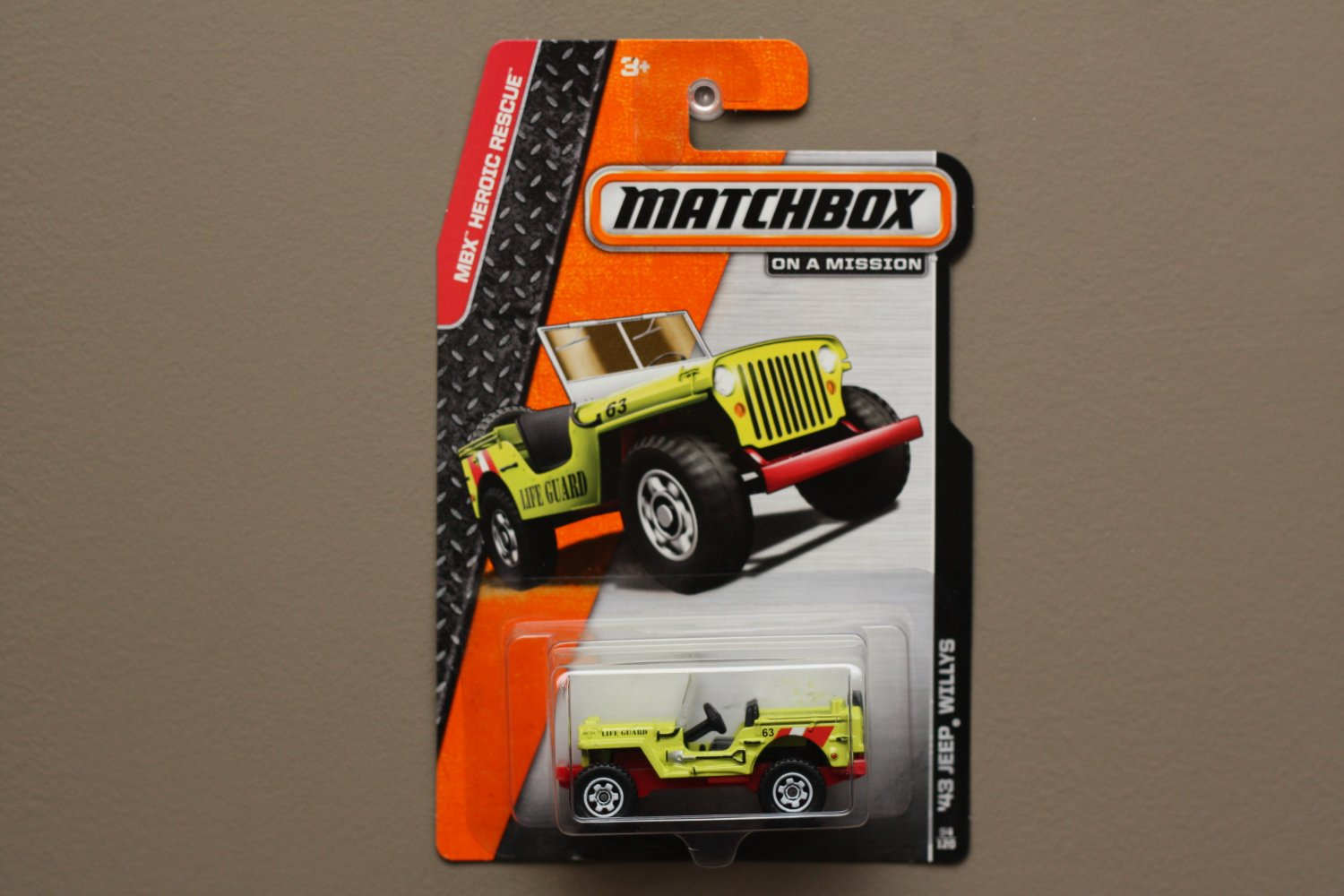 Matchbox 2014 MBX Heroic Rescue '43 Jeep Willys (yellow)
