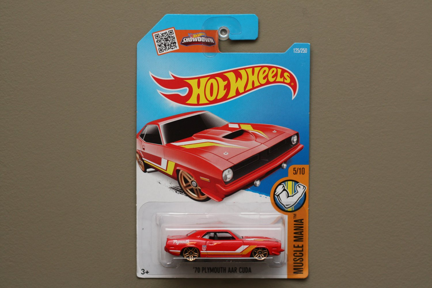 Hot wheels 2016 muscle mania 39 70 plymouth aar cuda red for 9 salon hot wheels mexico