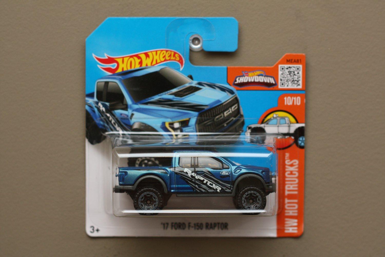 Hot Wheels 2016 Hw Hot Trucks 17 Ford F 150 Raptor Blue