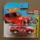 Hot Wheels 2016 HW Speed Graphics '70 Ford Escort RS1600 (red) (SEE CONDITION)
