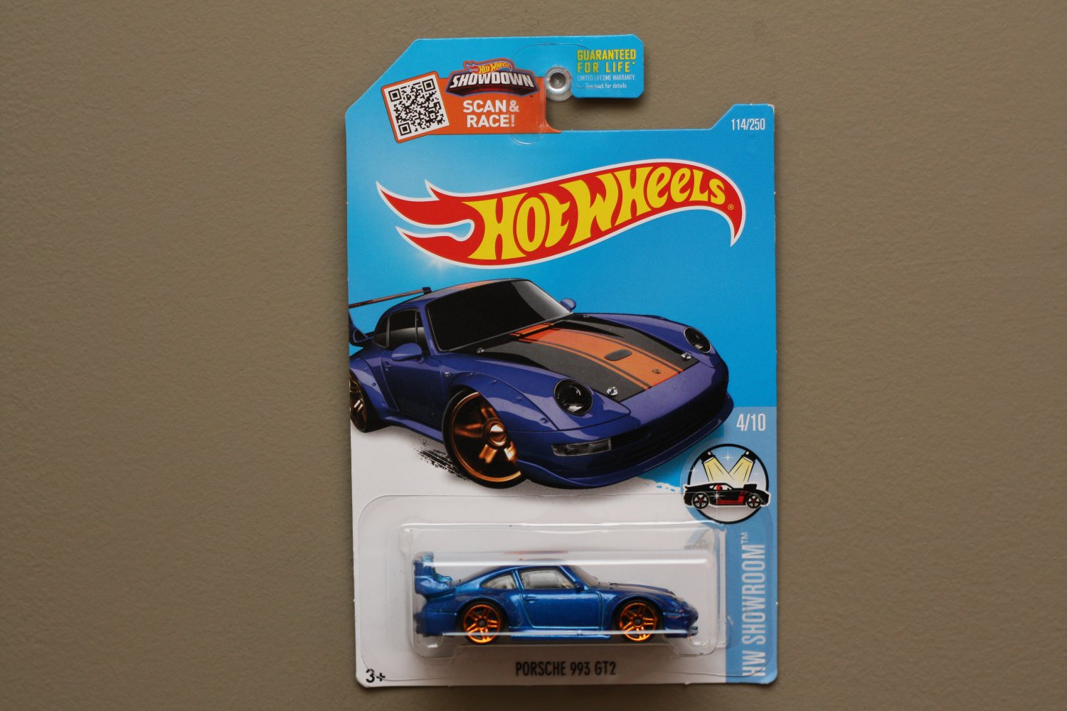 hot wheels 2016 hw showroom porsche 993 gt2 blue. Black Bedroom Furniture Sets. Home Design Ideas