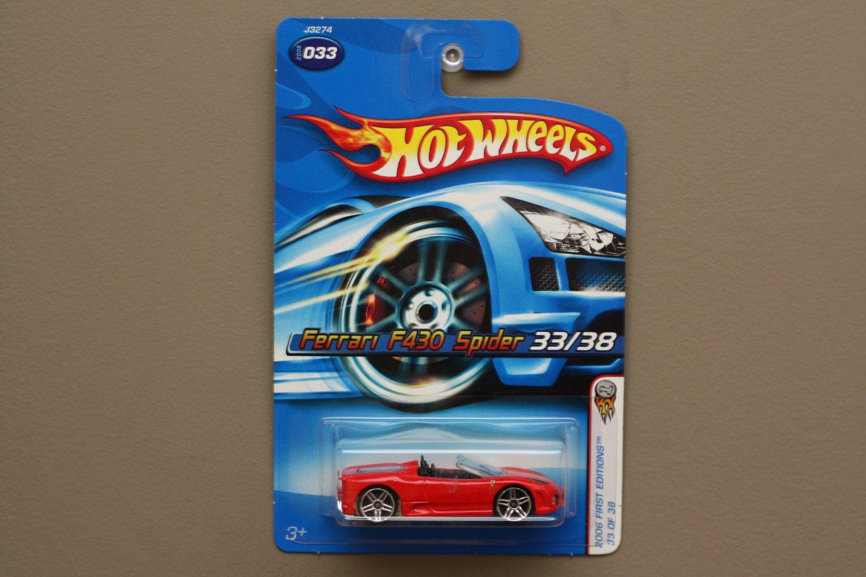 [ALL LARGE WHEELS ERROR] Hot Wheels 2006 First Editions Ferrari F430 Spider (red)