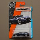 Matchbox 2016 MBX Adventure City Tesla Model S (navy blue)