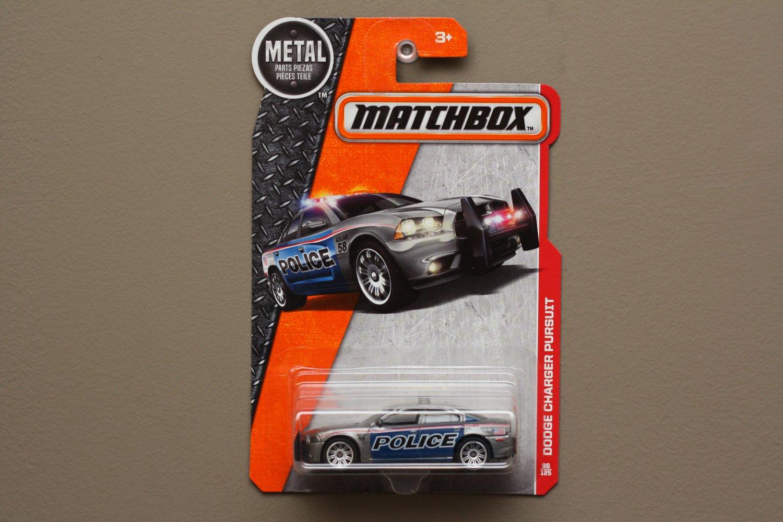 Matchbox 2016 MBX Heroic Rescue Dodge Charger Pursuit (grey)