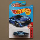 Hot Wheels 2016 Then And Now '17 Acura NSX (blue) (SEE CONDITION)