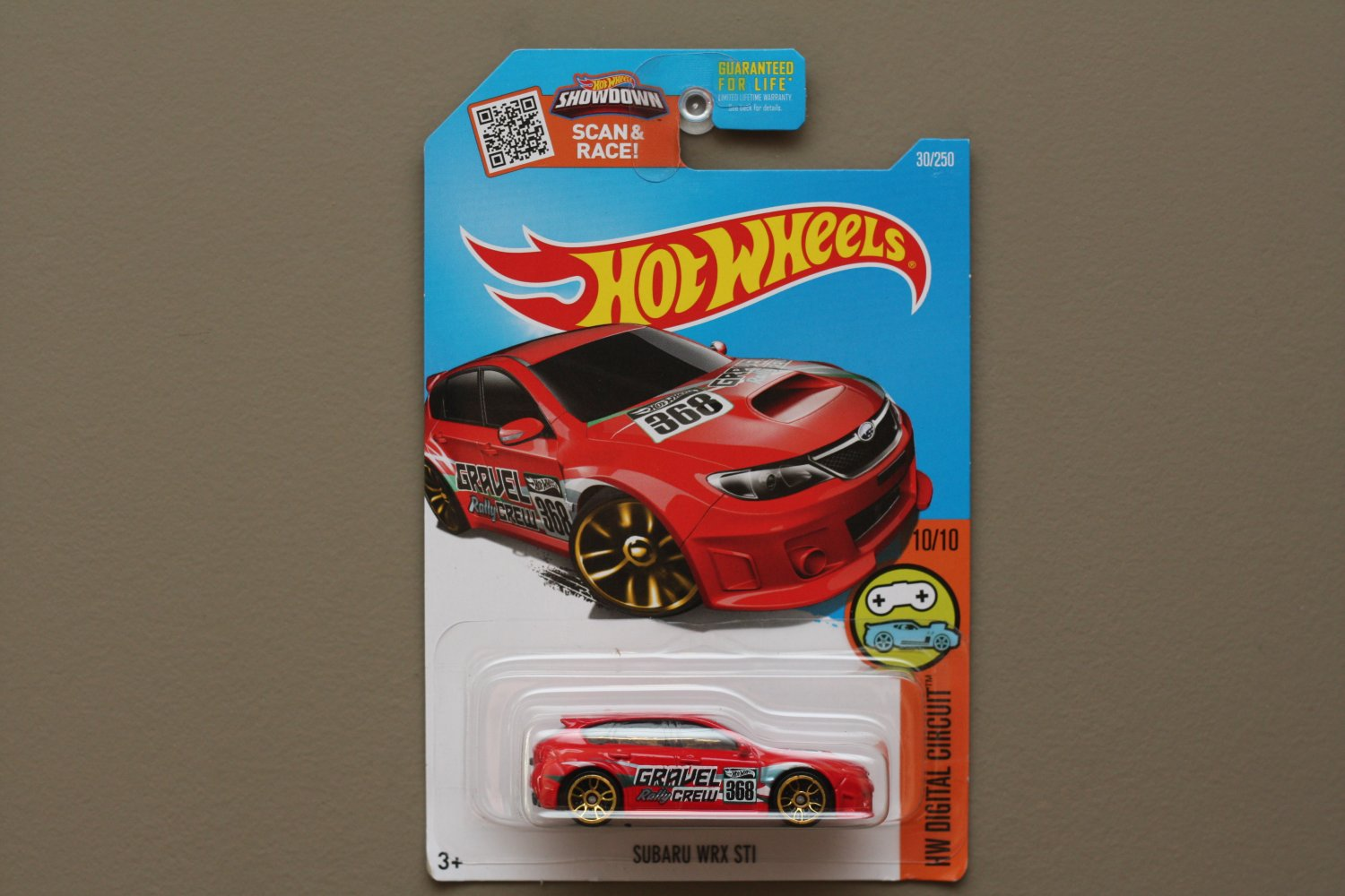 hot wheels 2016 hw digital circuit subaru wrx sti red see condition. Black Bedroom Furniture Sets. Home Design Ideas