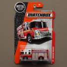 Matchbox 2016 MBX Heroic Rescue Hazard Squad Fire Engine (red)
