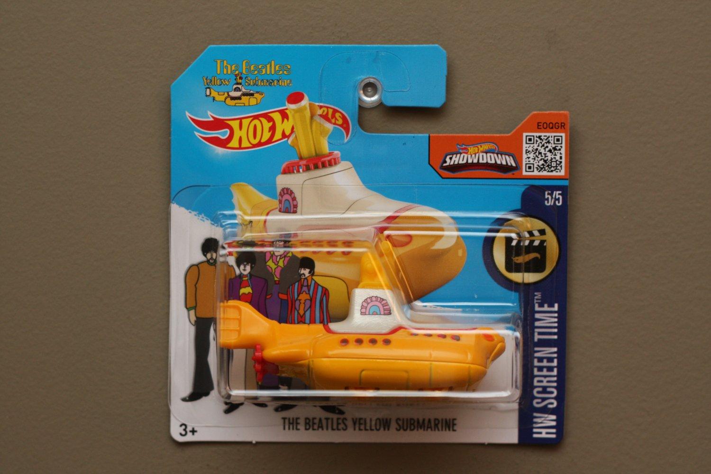 Hot Wheels 2016 HW Screen Time The Beatles Yellow Submarine