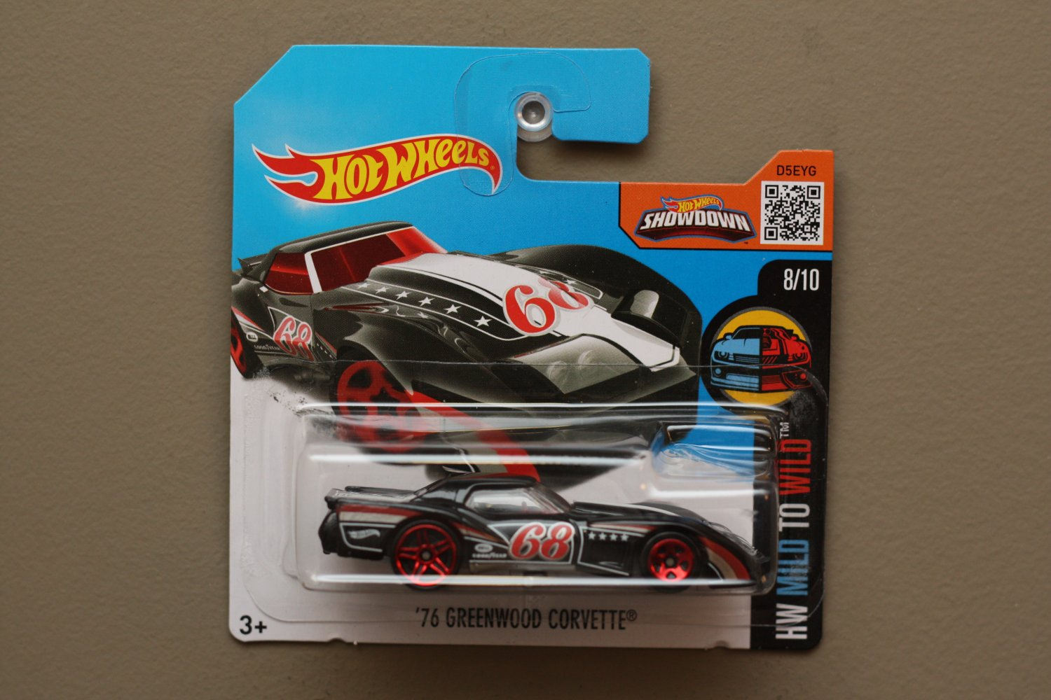 [WHEEL ERROR] Hot Wheels 2016 HW Mild To Wild '76 Greenwood Corvette (black)