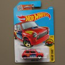 [WHEEL ERROR] Hot Wheels 2016 HW Art Cars Morris Mini Cooper (red) (SEE CONDITION)