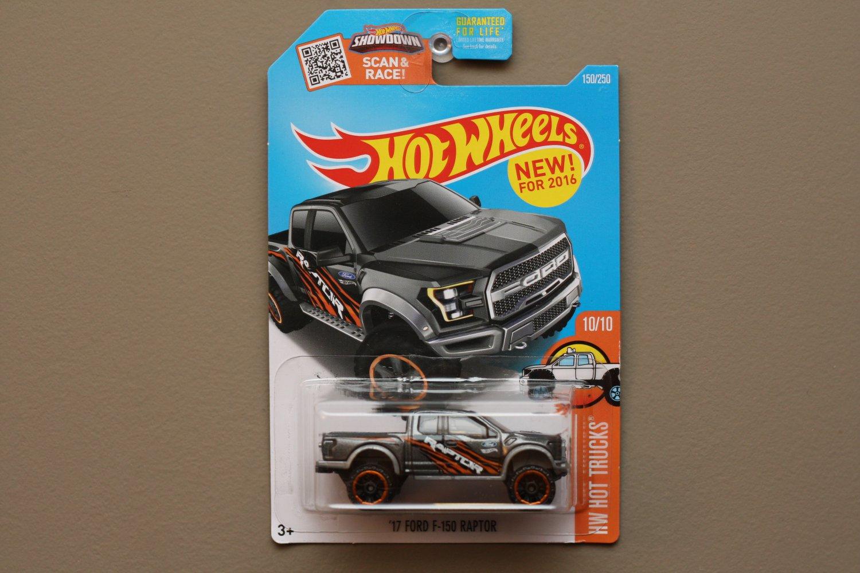 Hot Wheels 2016 HW Hot Trucks '17 Ford F-150 Raptor (graphite)