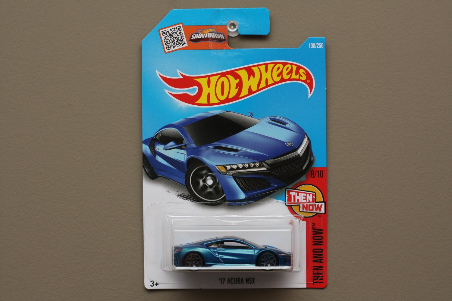 Hot Wheels 2016 Then And Now '17 Acura NSX (blue)
