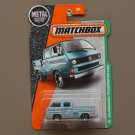 Matchbox 2016 MBX Explorers Volkswagen Transporter Crew Cab (light blue) (loaded bed variation)