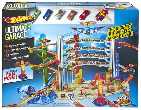 Hot Wheels Ultimate Garage Track Set With Fan Man (SHIPPING TO CANADA & USA ONLY)