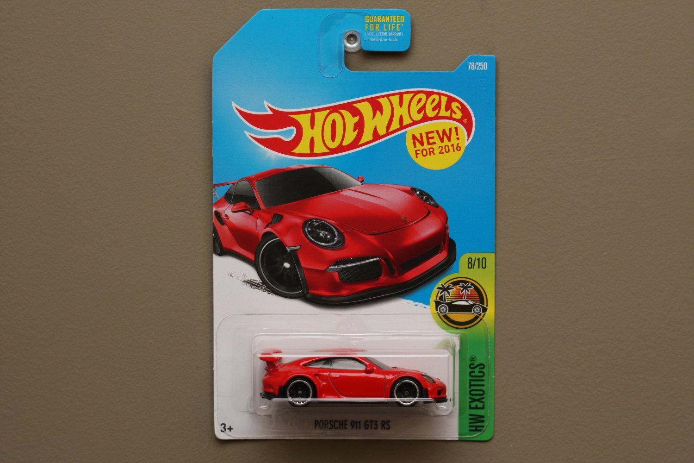 Hot Wheels 2016 HW Exotics Red Porsche 911 GT3 RS