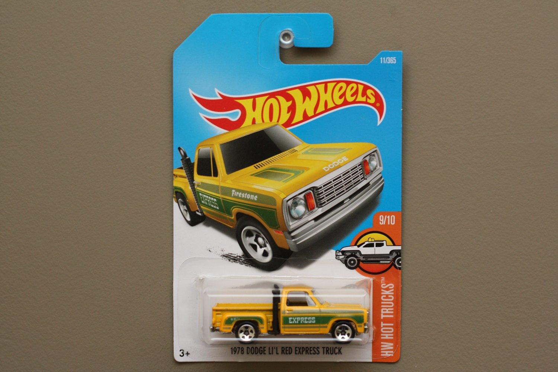 Hot Wheels 2017 Hw Hot Trucks 78 Dodge Li L Red Express
