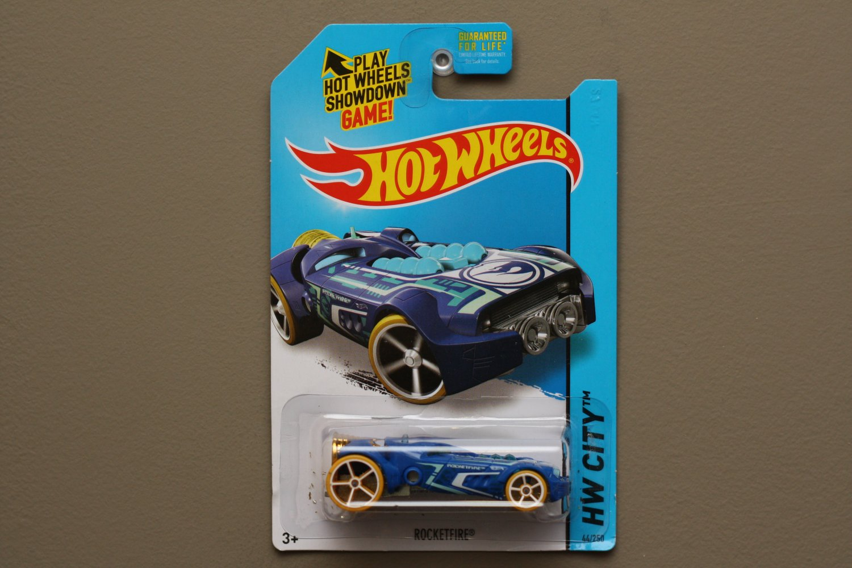 Hot Wheels 2015 HW City Rocketfire (blue) (Treasure Hunt) (SEE CONDITION)