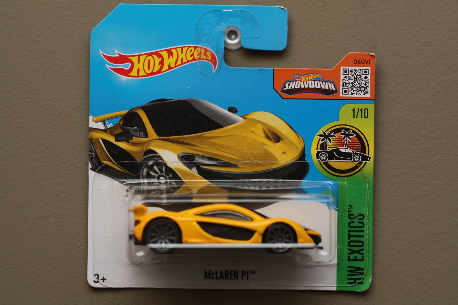 Hot Wheels 2016 HW Exotics McLaren P1 (yellow)