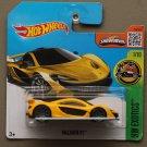 Hot Wheels 2016 HW Exotics McLaren P1 (yellow)