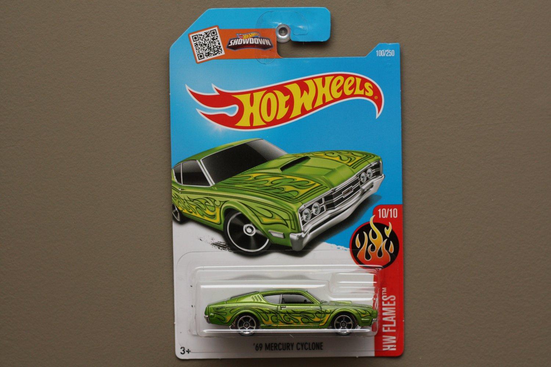 Hot Wheels 2016 HW Flames '69 Mercury Cyclone (green)