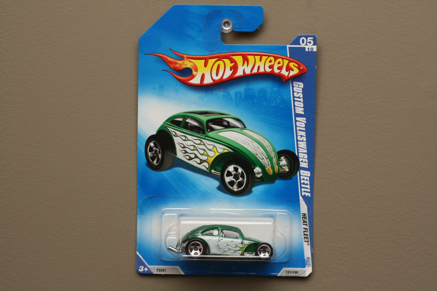 Hot Wheels 2009 Heat Fleet Custom Volkswagen Beetle (green)