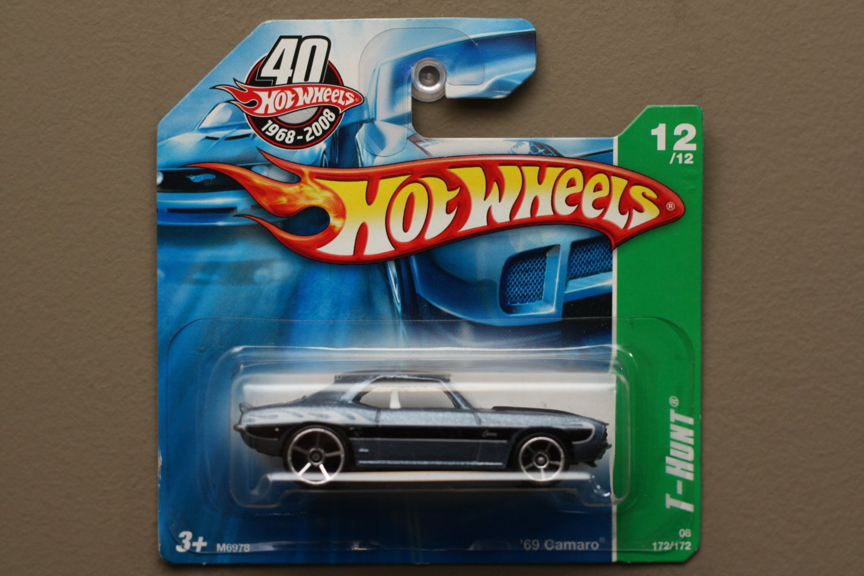 Hot Wheels 2008 Treasure Hunts '69 Camaro (steel blue)